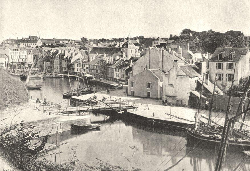Associate Product MORBIHAN. Belle- Ile. Palais. port 1895 old antique vintage print picture
