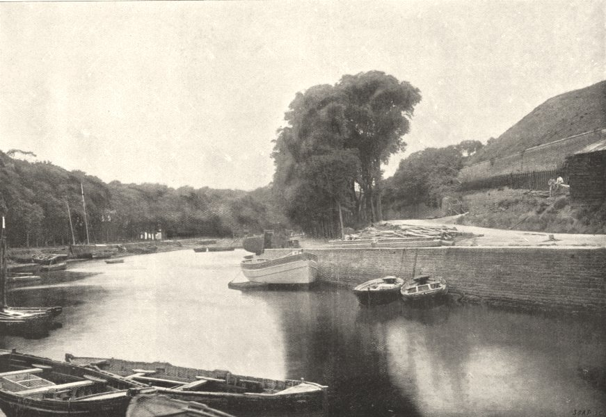 Associate Product MORBIHAN. Belle- Ile. Palais. Saline 1895 old antique vintage print picture