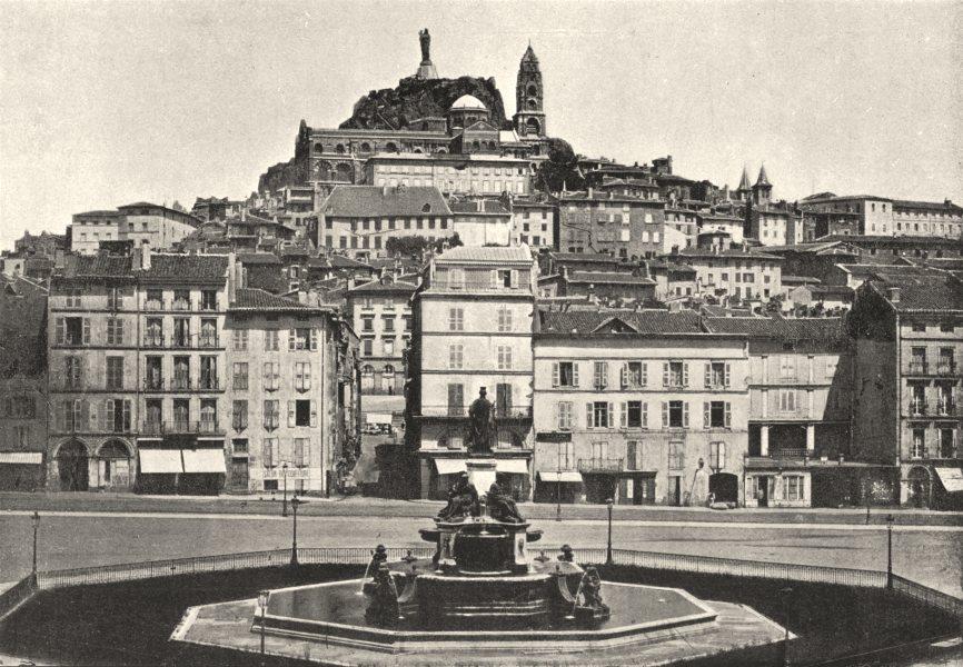 Associate Product HAUTE- LOIRE. Le Puy. Générale 1895 old antique vintage print picture
