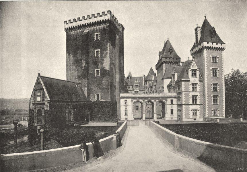 Associate Product PYRÉNÉES- ATLANTIQUES. Pau. Place du Chateau 1895 old print picture