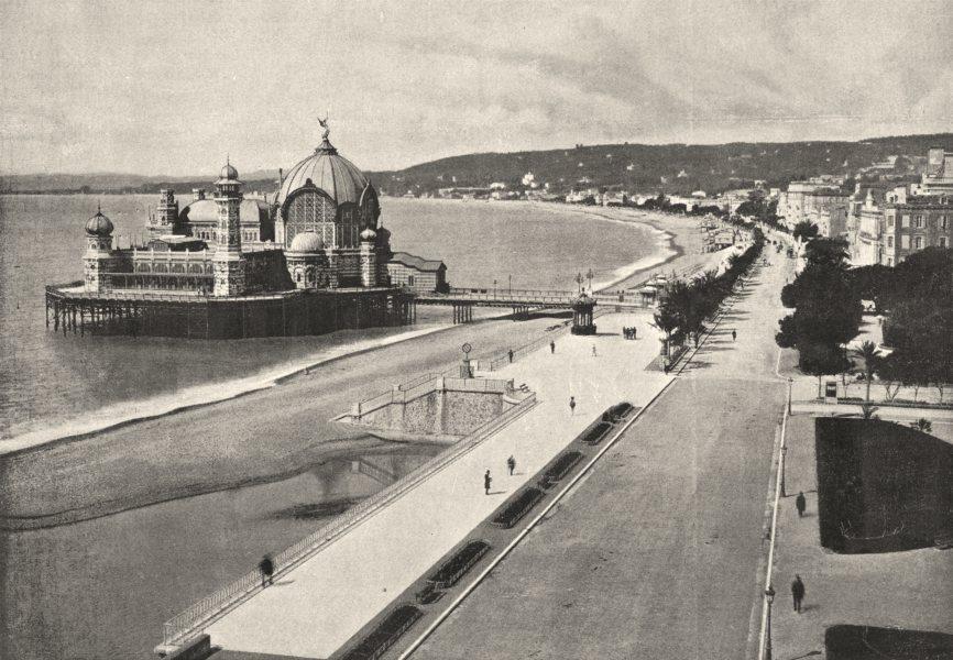 Associate Product ALPES- MARITIMES. Nice. Promenade des Anglais 1895 old antique print picture