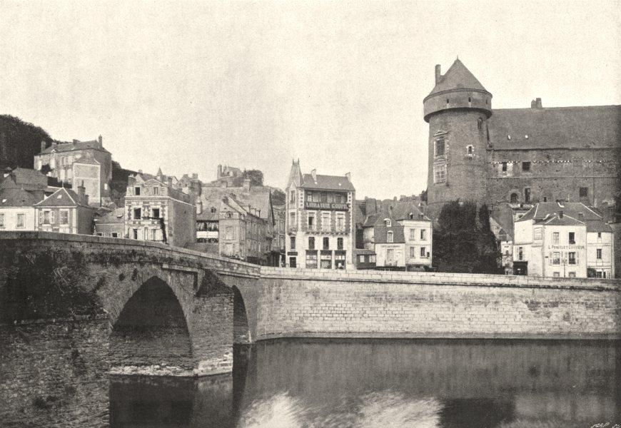 Associate Product MAYENNE. Laval. Pont sur 1895 old antique vintage print picture