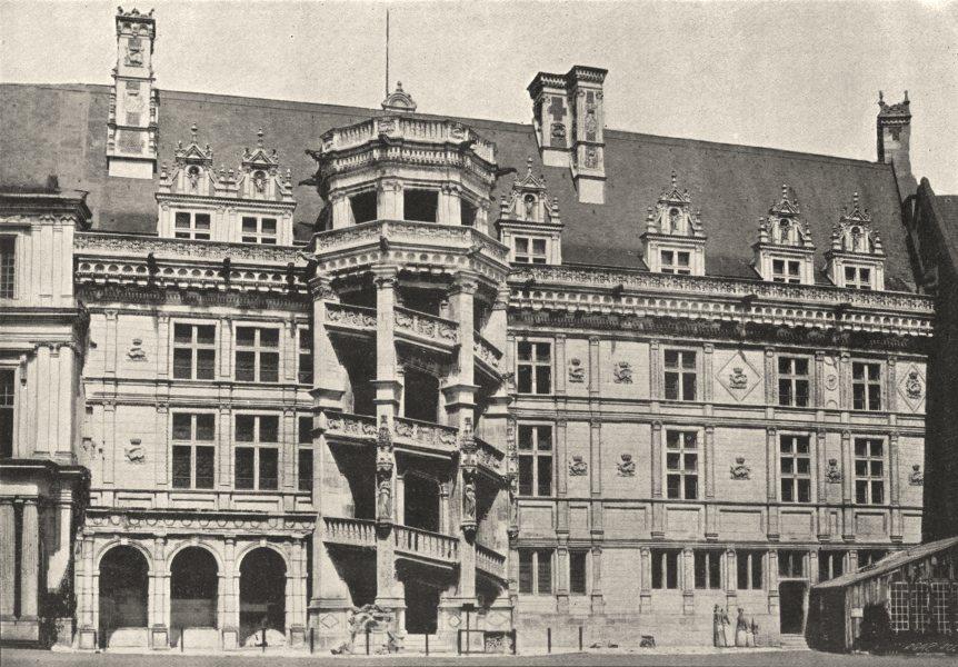 Associate Product LOIR- ET- CHER. Blois. Escalier 1895 old antique vintage print picture