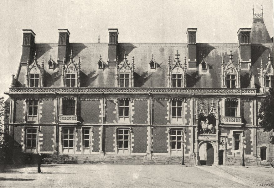 Associate Product LOIR- ET- CHER. Blois. Façade Louis XII 1895 old antique vintage print picture