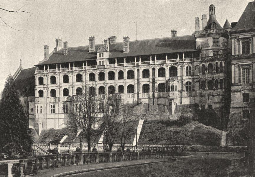Associate Product LOIR- ET- CHER. Pl. CXXXIIII- Blois. Façade François Ier. Détail 1895 print