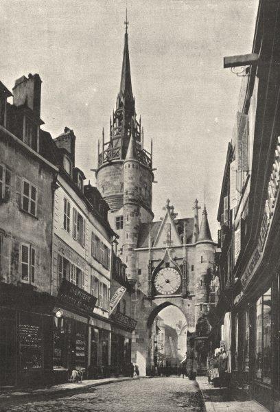 Associate Product YONNE. Auxerre. Tour Gaillarde 1895 old antique vintage print picture