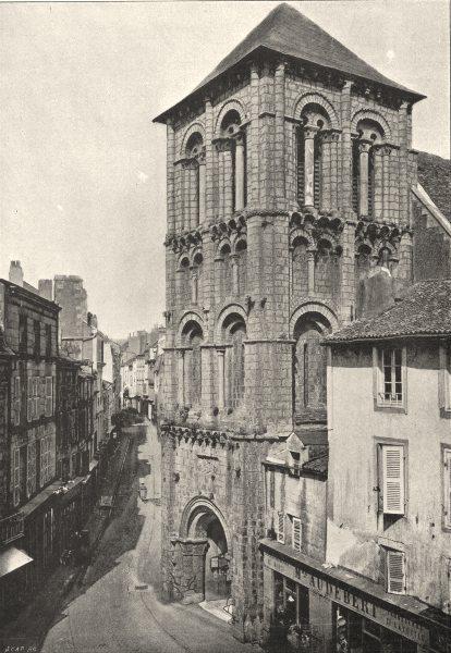 Associate Product VIENNE. Poitiers. St- Porchaire 1895 old antique vintage print picture