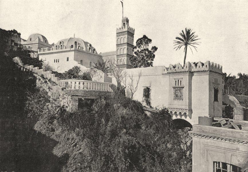 Associate Product ALGERIA. Algiers (Alger) . Mosquée de Sidi- Ader- Haman (Ensemble)  1895 print