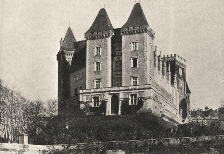 Associate Product PYRÉNÉES- ATLANTIQUES. Pau. Chateau 1895 old vintage print picture