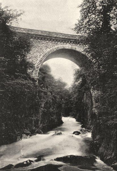 PYRÉNÉES- ATLANTIQUES. Eaux- Chaudes. Pont D'Enfer 1895 old print