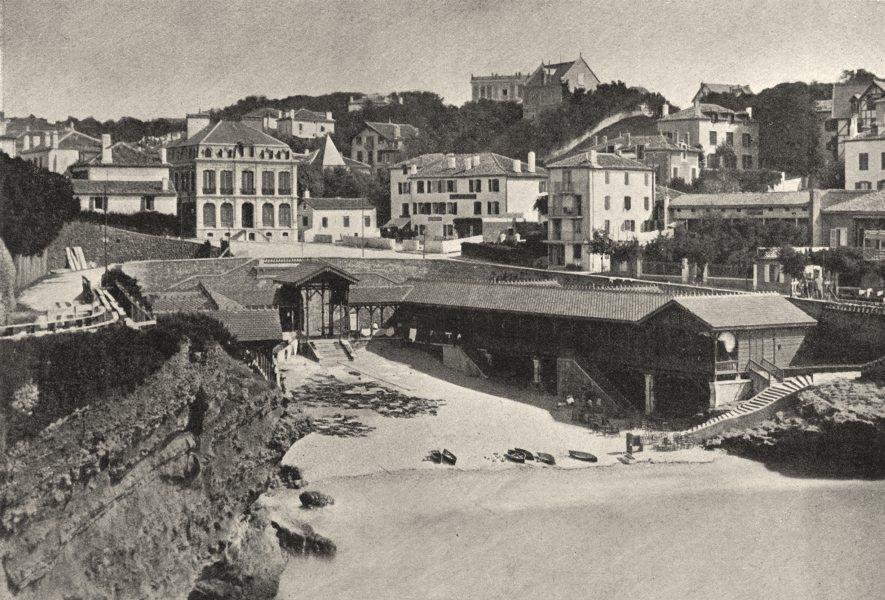 Associate Product PYRÉNÉES- ATLANTIQUES. Biarritz. Post Vieux 1895 old print picture