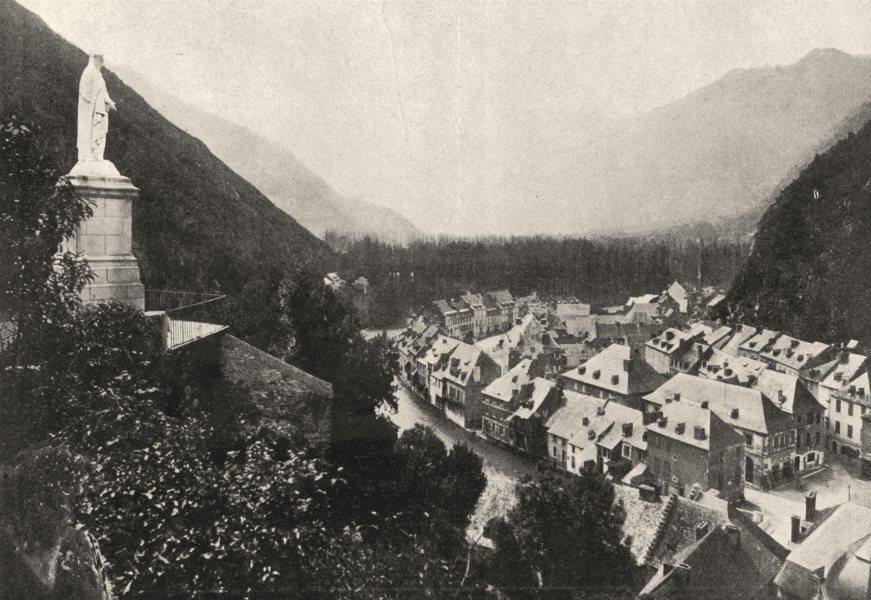 Associate Product HAUTE- GARONNE. St- Béat 1895 old antique vintage print picture