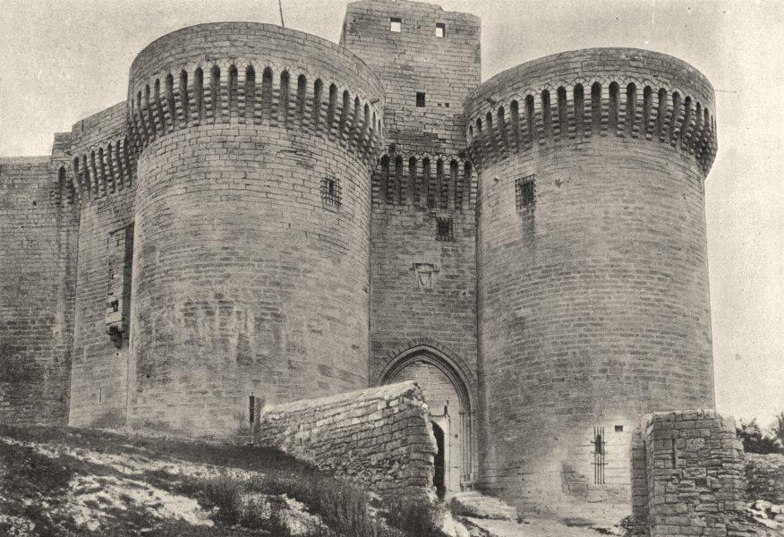 VAUCLUSE. Villeneuve- Avignon. Porte du Fort St- André 1895 old antique print