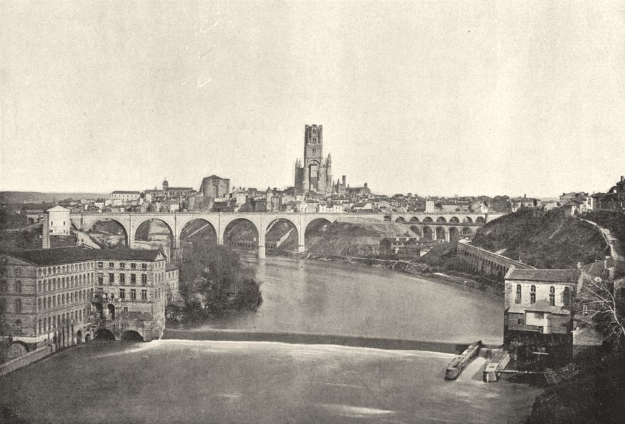 Associate Product TARN. Albi. Pont du Chemin de Fer 1895 old antique vintage print picture