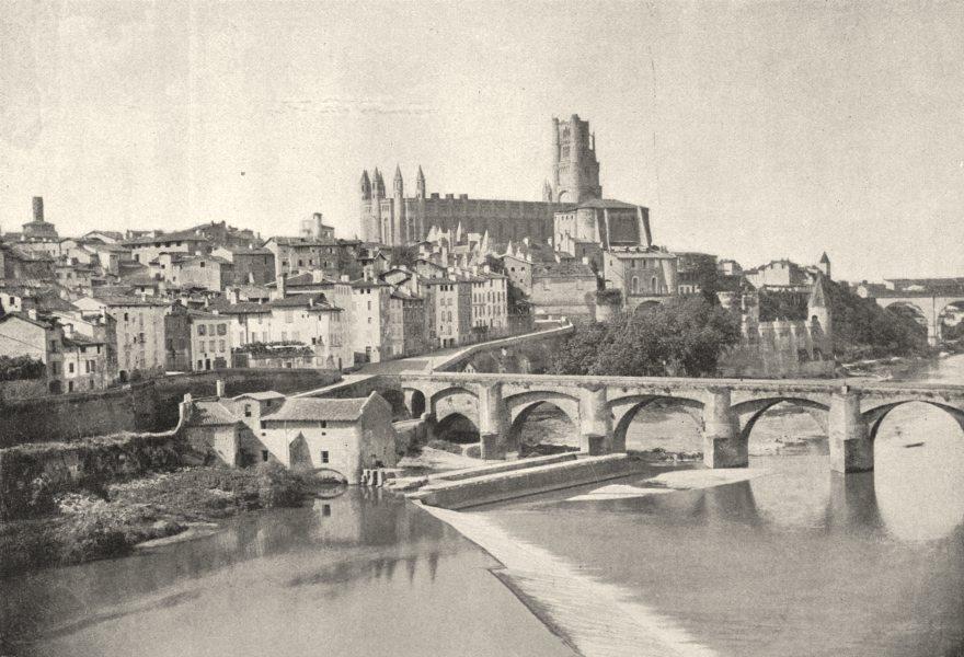 Associate Product TARN. Albi. du Vieux Pont 1895 old antique vintage print picture