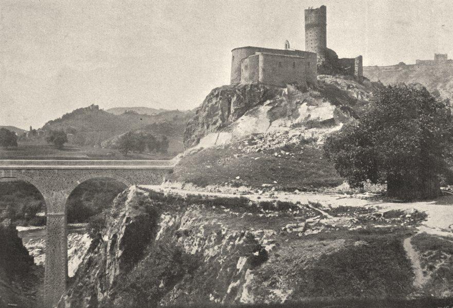 Associate Product LOIRE. Chateau de Grangen, Près Firminy 1895 old antique vintage print picture