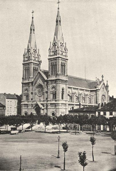 Associate Product RHÔNE- ALPES. St- Chamond. Église Notre- Dame 1895 old antique print picture