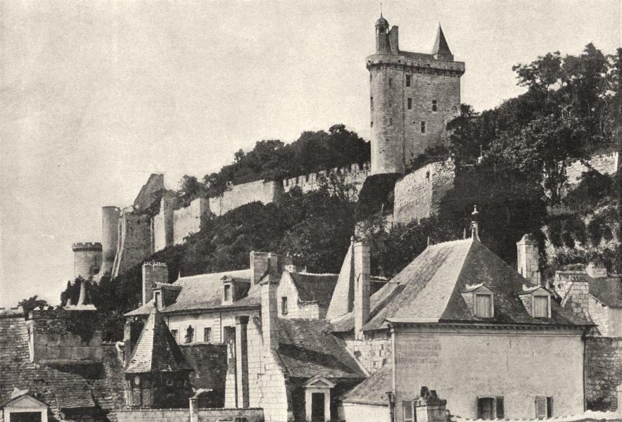 Associate Product INDRE- ET- LOIRE. Chinon. Chateau 1895 old antique vintage print picture