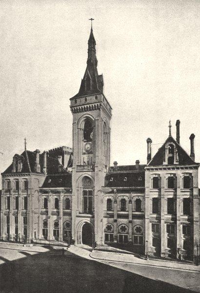 Associate Product CHARENTE. Angoulême. Hotel de Ville 1895 old antique vintage print picture