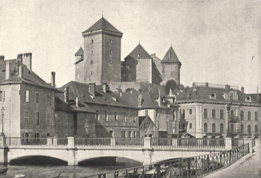 Associate Product HAUTE- SAVOIE. Annecy Chateau 1895 old antique vintage print picture