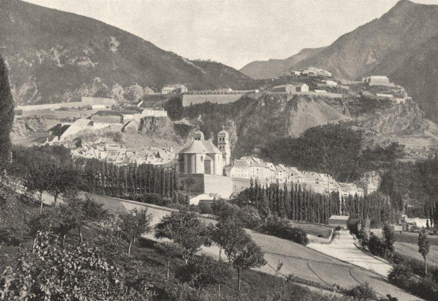 HAUTES- ALPES. Briançon. Générale 1895 old antique vintage print picture