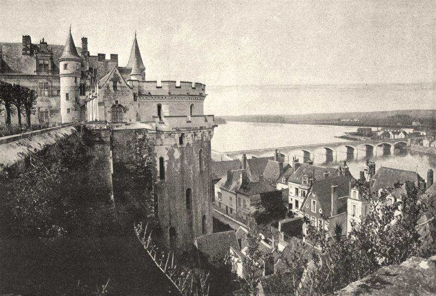 Associate Product INDRE- ET- LOIRE. Amboise. de. Prise du château 1895 old antique print picture