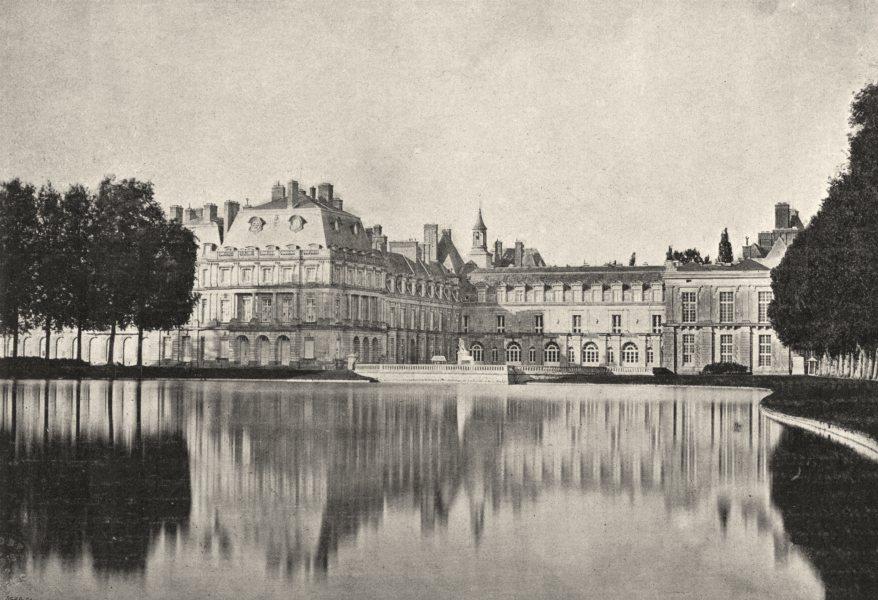 Associate Product SEINE- ET- MARNE. Fontainebleau. de Pièce D'Eau 1895 old antique print picture