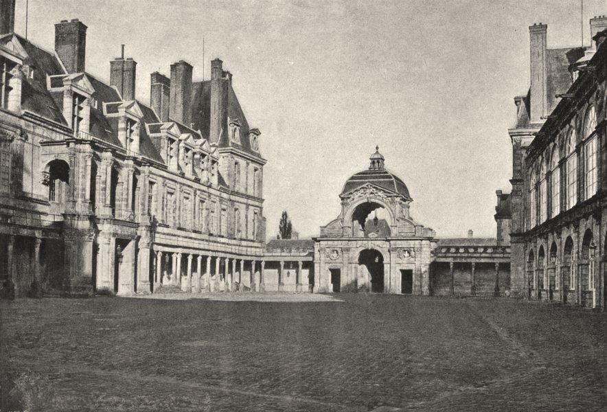 Associate Product SEINE- ET- MARNE. Fontainebleau. Porte Dauphine Cour Henri IV 1895 old print