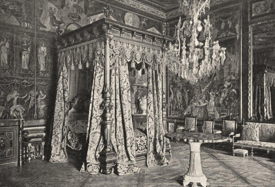 Associate Product SEINE- ET- MARNE. Fontainebleau. Chambre du Pape 1895 old antique print