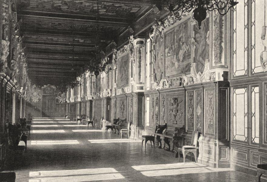 Associate Product SEINE- ET- MARNE. Fontainebleau. Galerie François Ier 1895 old antique print