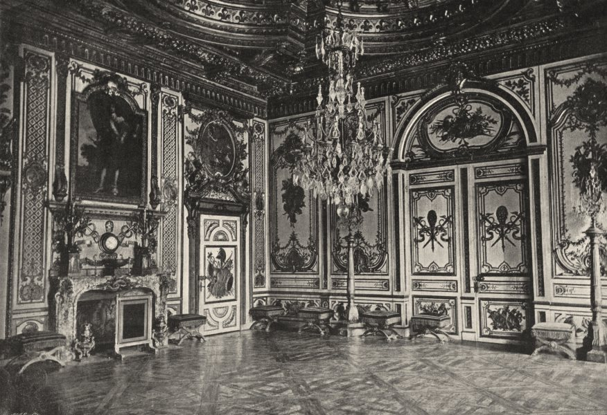 Associate Product SEINE- ET- MARNE. Fontainebleau. Salle Louis XIII 1895 old antique print