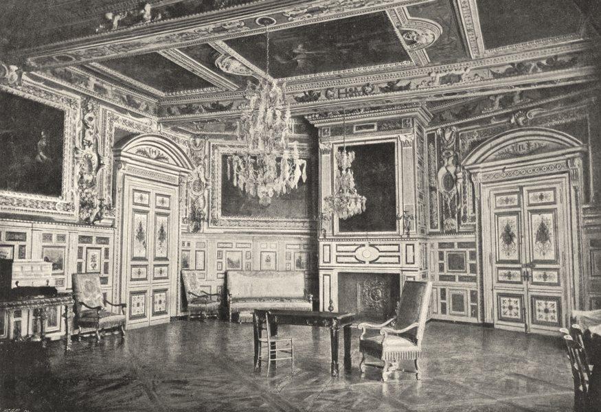 Associate Product SEINE- ET- MARNE. Fontainebleau. Salon 1895 old antique vintage print picture