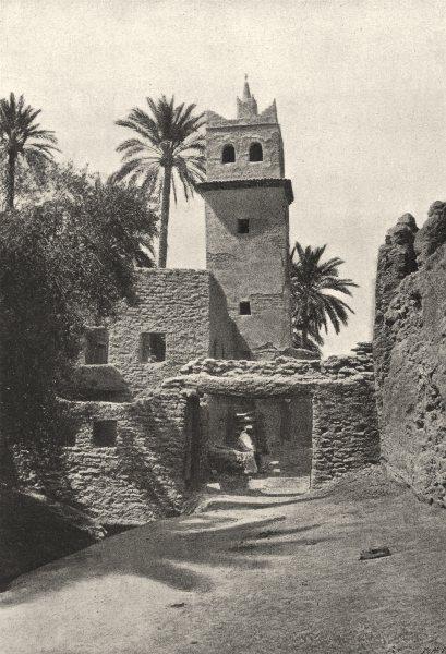 Associate Product ALGERIA. Biskra. Mosquée de Sidi Mcid 1895 old antique vintage print picture