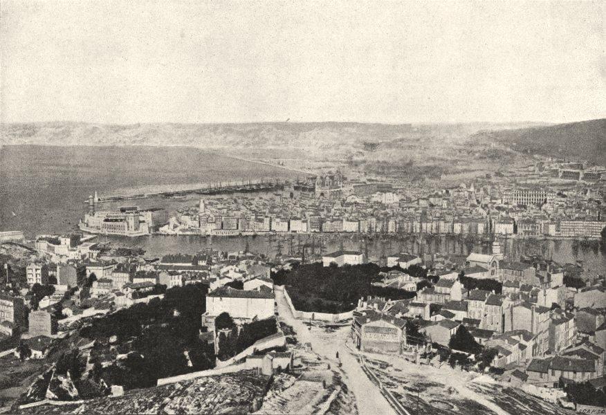 Associate Product BOUCHES- DU- RHÔNE. Marseille. Générale 1895 old antique vintage print picture