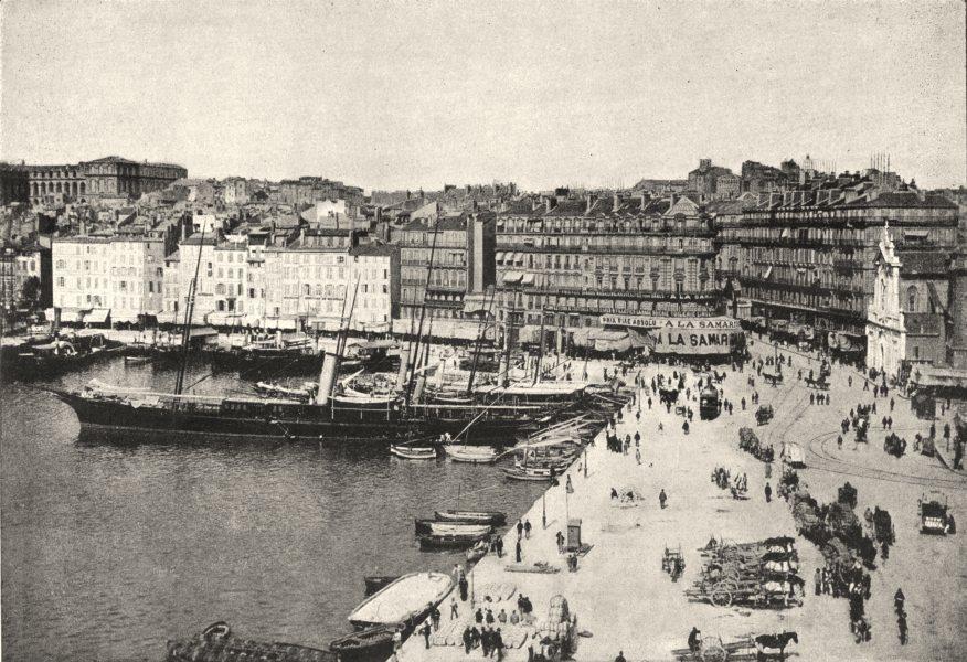 Associate Product BOUCHES- DU- RHÔNE. Marseille. Quai de Fraternité 1895 old antique print