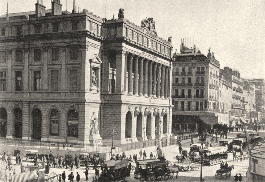Associate Product BOUCHES- DU- RHÔNE. Marseille. Bourse 1895 old antique vintage print picture