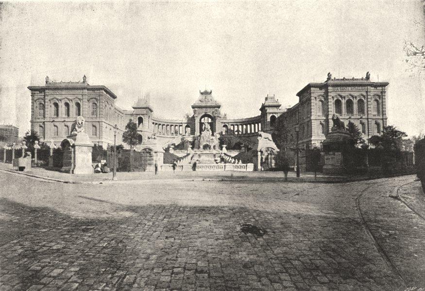 Associate Product BOUCHES- DU- RHÔNE. Marseille. Palais de Longchamps 1895 old antique print
