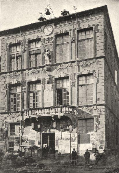 Associate Product BOUCHES- DU- RHÔNE. Tarascon. Hotel de Ville 1895 old antique print picture