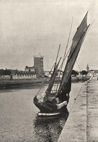 Associate Product VENDÉE. Sables D'Olonne. port 1895 old antique vintage print picture