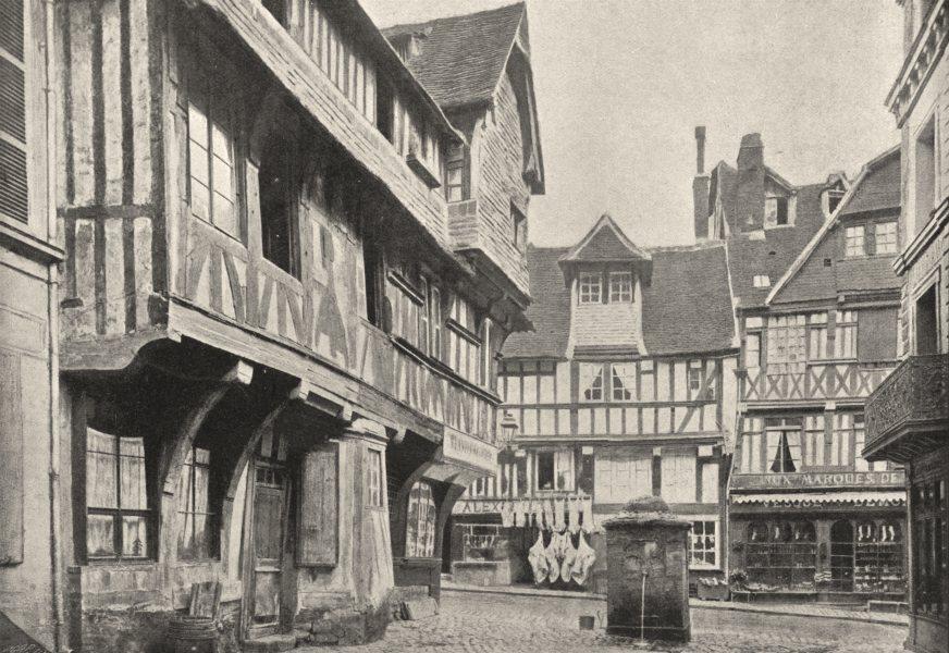 Associate Product CALVADOS. Lisieux. Place 1895 old antique vintage print picture