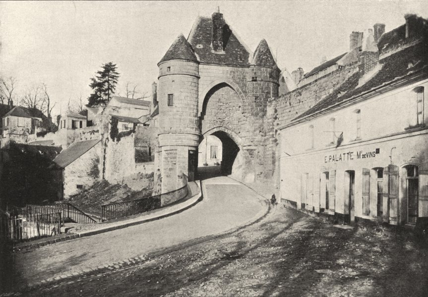 Associate Product AISNE. Laon. Porte de Roger D'Ardon 1895 old antique vintage print picture
