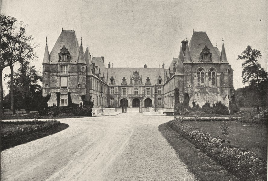 Associate Product AISNE. Chateau de Marchais 1895 old antique vintage print picture