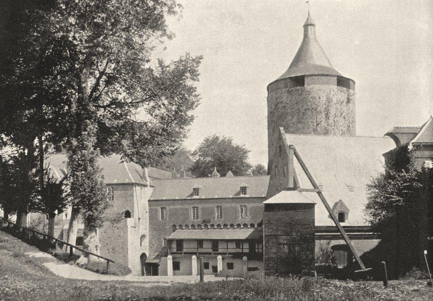 Associate Product AISNE. Guise. Donjon Chateau 1895 old antique vintage print picture
