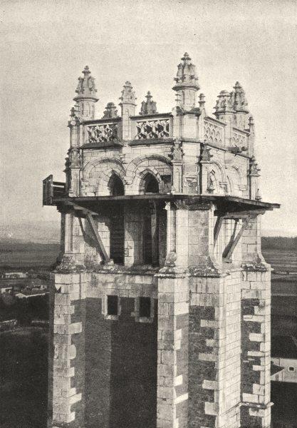 Associate Product AIN. Brou. Clocher de L'Église 1895 old antique vintage print picture