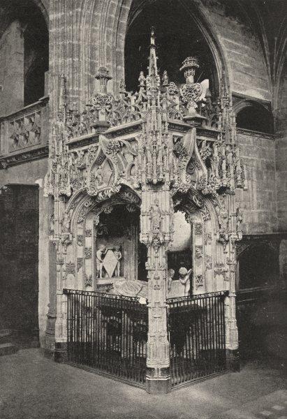 Associate Product AIN. Brou. Tombeau de Marguerite D'Autriche 1895 old antique print picture