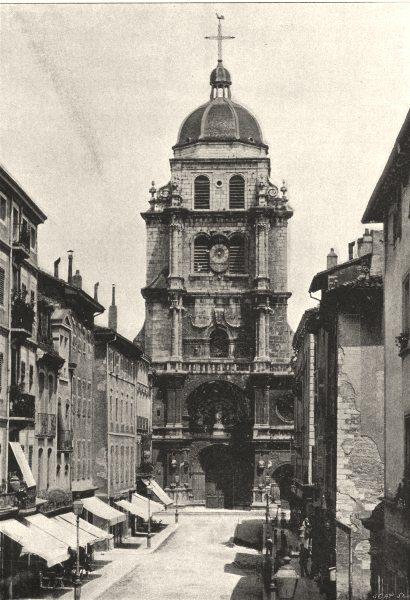 Associate Product AIN. Bourg. Église Notre- Dame 1895 old antique vintage print picture
