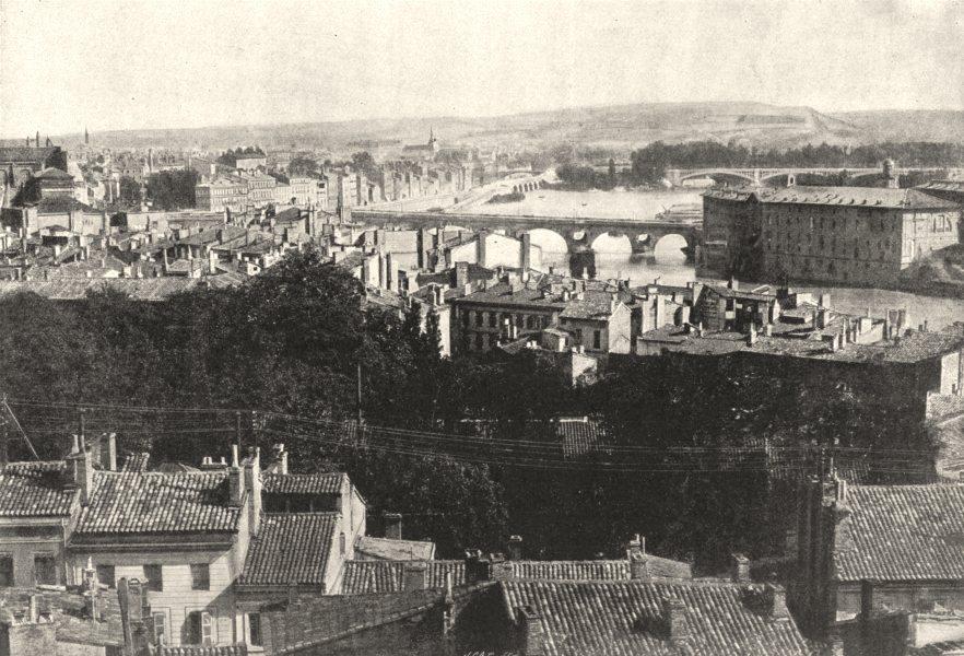 Associate Product HAUTE- GARONNE. Toulouse. Générale 1895 old antique vintage print picture