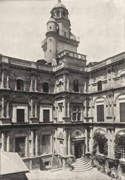 Associate Product HAUTE- GARONNE. Toulouse- Hotel D' Assezat 1895 old antique print picture