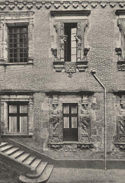 Associate Product HAUTE- GARONNE. Toulouse. Porte de L' Hotel Felzins 1895 old antique print