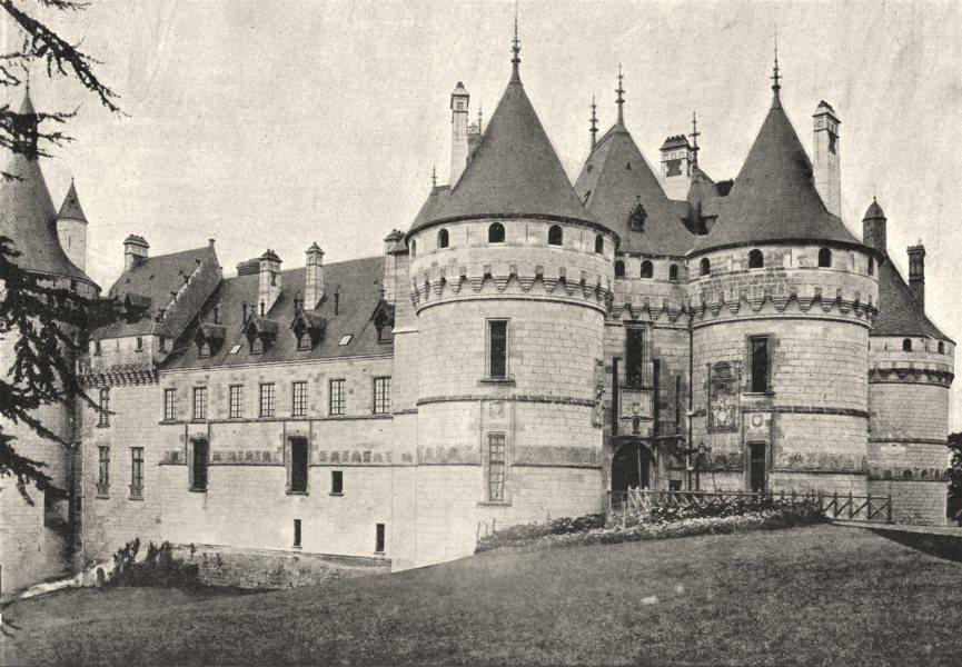 Associate Product HAUTE- MARNE. Chaumont. Façade du Chateau 1895 old antique print picture